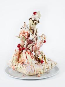 Anna Barlow Cushion Dream on My Place 2013, Ceramic, 40x35x35cm Sream Gallery